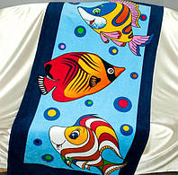 Полотенце пляжное ТМ TAG Рыбки