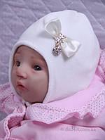 """Шапка для новорожденной """"Маленькое чудо"""" Lari 1-1-16-1-5 р.36 молочный"""