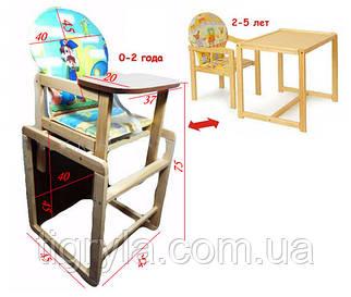 Стульчик-столик для кормления 2в1 трансформер