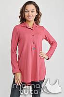 MamaTyta Блузка-платье для беременных и кормящих МамаTyta Моника светлый амарант арт. А170.4