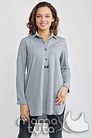 MamaTyta Блузка-платье для беременных и кормящих МамаTyta Моника серый жемчуг арт. А170.3