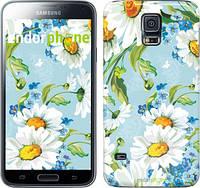 "Чехол на Samsung Galaxy S5 Duos SM G900FD Ромашки ""2233c-62"""