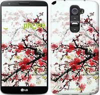 "Чехол на LG G2 Цветущий куст ""831c-37"""