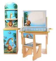 "Комплект детской мебели Baby Elit: стол с двухсторонним мольбертом, стул и этажерка ""Мадагаскар""., фото 2"