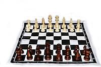 Фигуры шахматные. Деревянные, лакированные. Большие