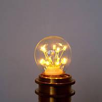 LED лампа Эдисона ST-45  (3w)  VINTAGE Fireworks