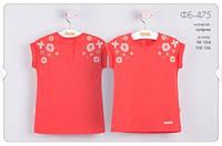 Детская одежда Бемби, футболка с цветами для   девочки р-ры 104