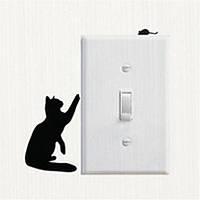 Кошка 4 наклейка на выключатель 15Х11 см (товар при заказе от 200 грн)