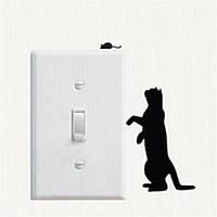 Кошка 3 наклейка на выключатель 15Х11 см