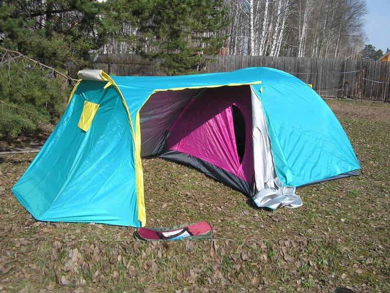 """Палатка 3-х местная с тамбуром Cliff SY A18, туристическая палатка, палатка двухслойная, трехместная - Интернет магазин """"Portal24"""" в Чернигове"""