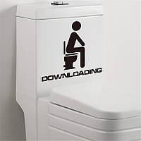 Наклейка WC туалет 2 (товар при заказе от 200 грн)