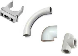 Фитинги и клей для гладкой дренажной трубы