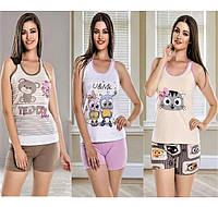 Женские пижамы, домашние костюмы летние.