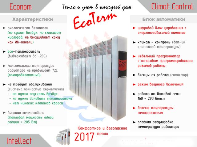 Электрическая батарея EcoTerm