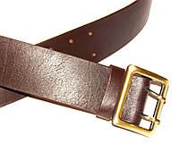 """Ремень офицерский кожаный коричневый """"Voin"""" МЛ-853"""