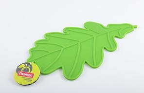 Подставка силиконовая под горячее 27 х 16 см (зеленый лист) Fissman (PR-7045.HD)