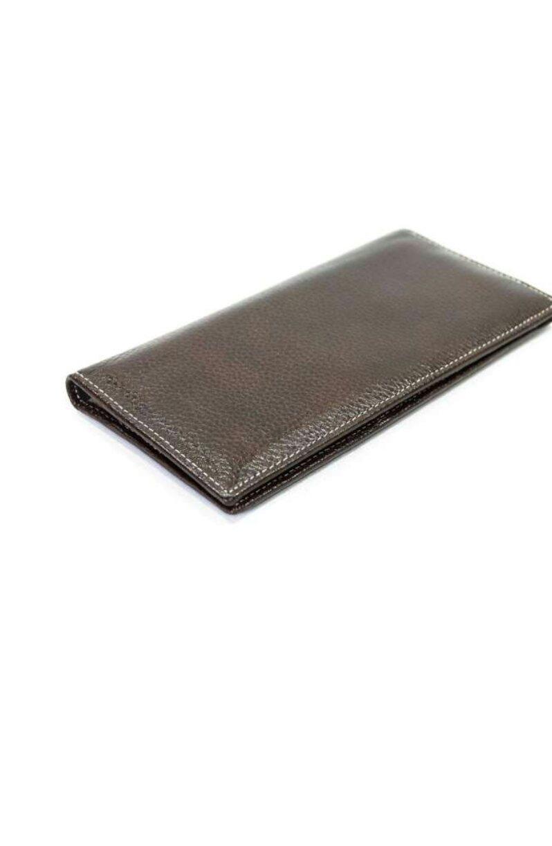 Купюрник мужской кожаный коричневый 580.
