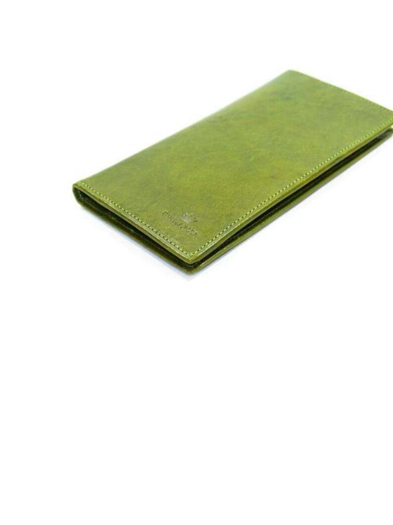Купюрница женская кожаная зелёная d580.