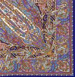 Жасмин 1176-13, павлопосадский платок (шаль, крепдешин) шелковый с шелковой бахромой, фото 3