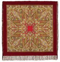 Жасмин 1176-5, павлопосадский платок (шаль, крепдешин) шелковый с шелковой бахромой   Стандартный сорт