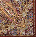 Жасмин 1176-17, павлопосадский платок (шаль, крепдешин) шелковый с шелковой бахромой, фото 2