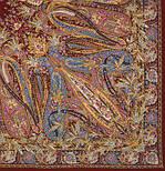 Жасмин 1176-17, павлопосадский платок (шаль, крепдешин) шелковый с шелковой бахромой, фото 5