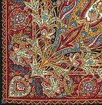 Жасмин 1176-18, павлопосадский платок (шаль, крепдешин) шелковый с шелковой бахромой, фото 10
