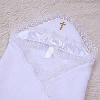 Крыжма для крестин Бантик (белая)
