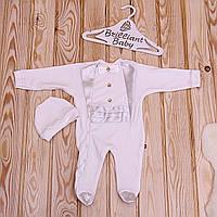 """Нарядный человечек для младенца  """"Фрак"""" 62 р. (молоко)"""