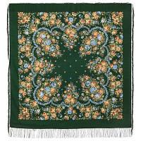 Душечка 782-10, павлопосадский платок шерстяной  с шелковой бахромой