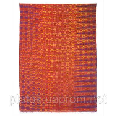 Импульс 10065-6, павлопосадский шарф-палантин шерстяной (разреженная шерсть) с осыпкой