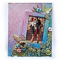 Романтическая фоторамка Подарок ручной работы на 8 марта день рождения