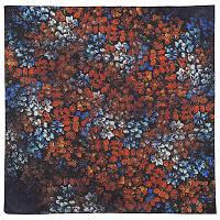10164 платок шейный шелковый (крепдешин) 10164-14, павлопосадский шейный платок (крепдешин) шелковый с подрубкой