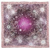 10186-7, павлопосадский шейный платок (крепдешин) шелковый с подрубкой