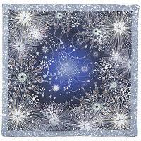 10186-14, павлопосадский шейный платок (крепдешин) шелковый с подрубкой