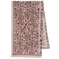10154 шарф шелковый (крепдешин) 10154-2, павлопосадский шарф шелковый крепдешиновый с подрубкой