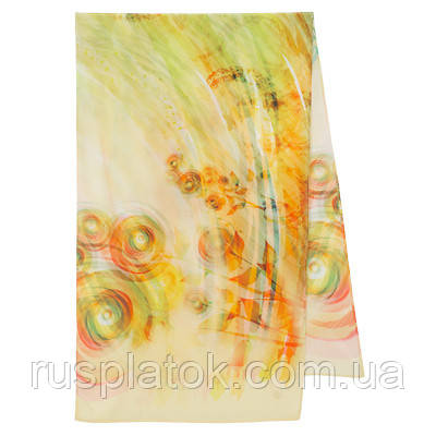 10163 шарф шелковый (крепдешин) 10163-2, павлопосадский шарф шелковый крепдешиновый с подрубкой
