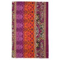 10225 палантин шерстяной 10225-7, павлопосадский шарф-палантин шерстяной (разреженная шерсть) с осыпкой
