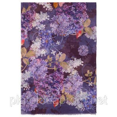 10243 палантин шерстяной 10243-15, павлопосадский шарф-палантин шерстяной (разреженная шерсть) с осыпкой   Стандартный сорт