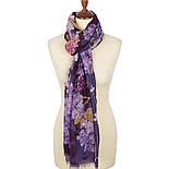 Палантин шерстяной 10243-15, павлопосадский шарф-палантин шерстяной (разреженная шерсть) с осыпкой, фото 3