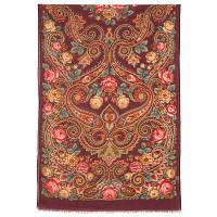Для души 1697-6, павлопосадский шарф-палантин шерстяной (разреженная шерсть) с осыпкой, фото 1