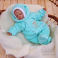 Комбинезон Brilliant Baby на махре (ментол)