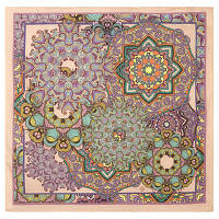 10306 платок хлопковый 10306-3, павлопосадский платок (на голову, шейный) хлопковый (батистовый) с подрубкой