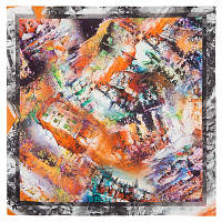 10336 платок хлопковый(батист) 10336-2, павлопосадский платок (на голову, шейный) хлопковый (батистовый) с подрубкой   Первый сорт