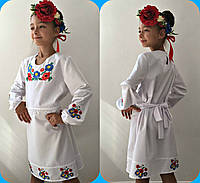 Платье детское вышиванка 636 mari