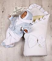 """Зимний набор для новорожденного """"Boy"""" (белый)"""