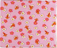 Пеленка фланель 90х80 см РУНО (203.05_10-0130 pink)