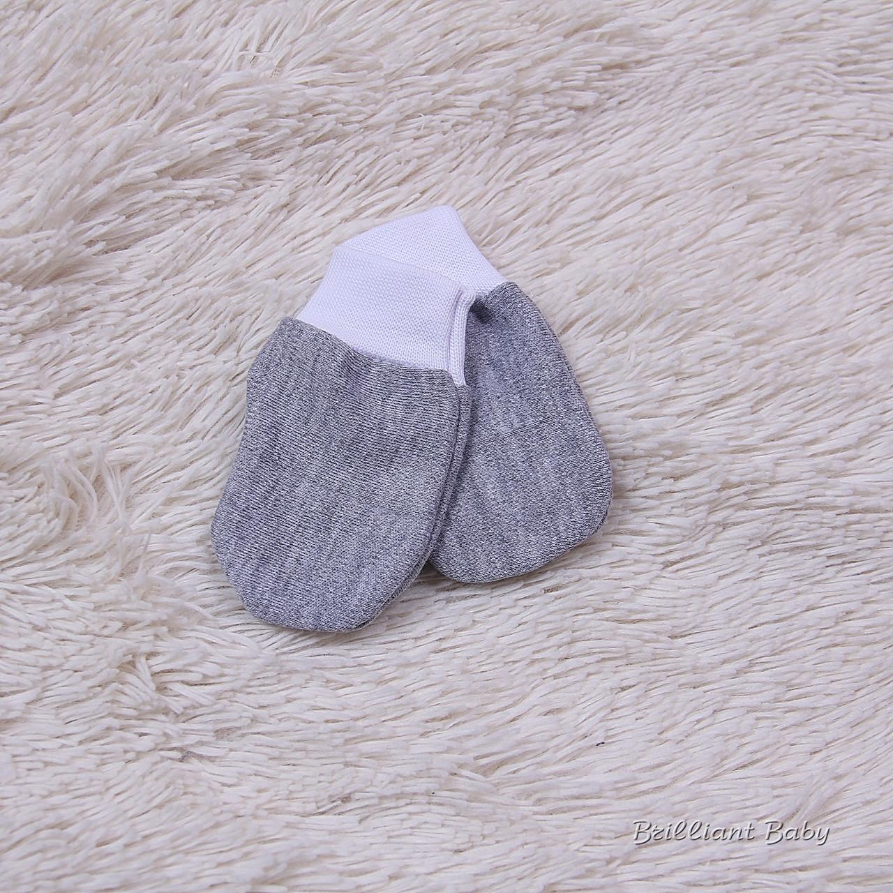 Царапки для новорожденных трикотаж (серые)