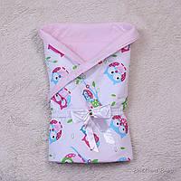 Демисезонный конверт-одеяло Valleri (совы розовый)