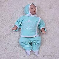 Набор для младенца трехпредметник Queen (ментол), фото 1